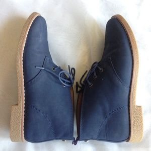 Tommy Hilfiger Blue Suede Boots